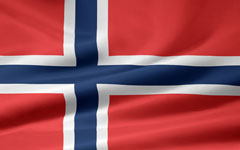 rippled Norwegian flag
