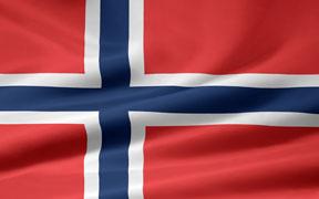 rippled Norwegian flag